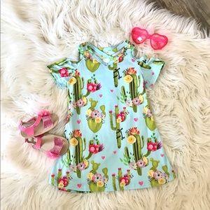 Other - Cactus Cold Shoulder Dress 🌵❤️